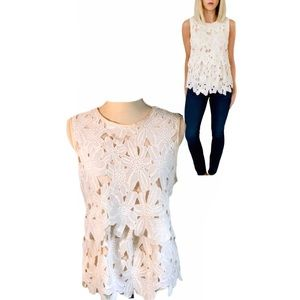 Dolce Vita Anthro Jimena Floral Embroidered Top